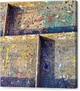 Box Palette Paint  Canvas Print