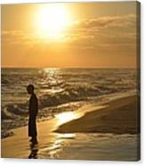 Boy And The Sea Canvas Print