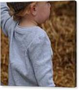 Boy In Cool Hat Canvas Print