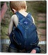 Boy In Overalls Canvas Print
