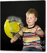 Boy Popping A Balloon Canvas Print