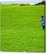 Boy With His Kite Maine Canvas Print