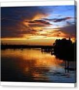 Braden River Sunset Canvas Print