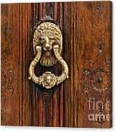 Brass Door Knocker Canvas Print