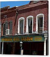 Brass Rail Saloon Canvas Print