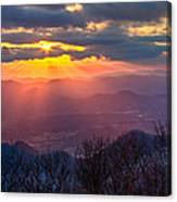 Brasstown Sunset Canvas Print
