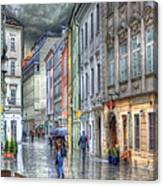 Bratislava Rainy Day In Old Town Canvas Print