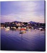 Bray Harbour, Co Wicklow, Ireland Canvas Print