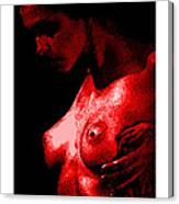 Breast In Color Canvas Print