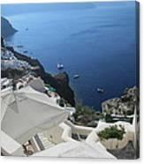 Breathtaking Santorini Canvas Print