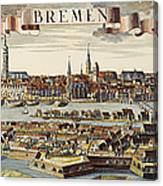 Bremen, Germany, 1719 Canvas Print