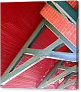 Brick And Wood Truss Canvas Print