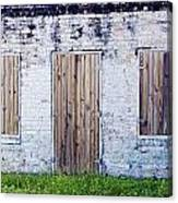 Brick And Wooden Building Canvas Print