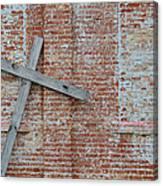 Brick Wall Cross Canvas Print