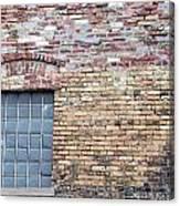 Brick Wall Window Canvas Print