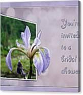 Bridal Shower Invitation - Blue Flag Iris Wildflower Canvas Print