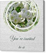 Bridal Shower Invitation - White Spirea Canvas Print