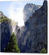 Bridalveil Falls In Yosemite Canvas Print