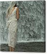 Bride Below Dam Canvas Print