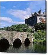 Bridge Across A Lake, Westport House Canvas Print