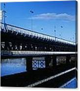 Bridge Across A River, Double-decker Canvas Print