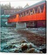 Bridge Across The Ammonoosuc River Canvas Print