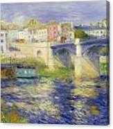 Bridge At Chatou Canvas Print