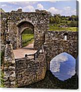 Bridge At Leeds Castle Canvas Print