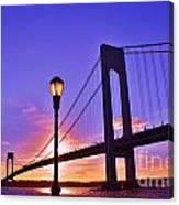 Bridge At Sunset 2 Canvas Print