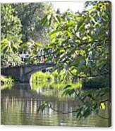 Bridge Near The Charles Canvas Print