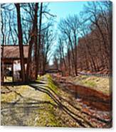 Bridge Number 2 Along The Delaware Canal Canvas Print