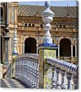 Bridge Of The Spanish Square In Seville Canvas Print