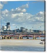 Bridge Over River Thames In London Canvas Print