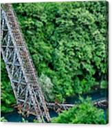 Bridge Over The Lazy River Canvas Print