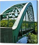 Bridge Spanning Connecticut River Canvas Print