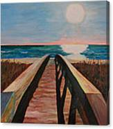 Bridge To Beach Canvas Print
