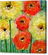 Bright Colored Flowers Shine Canvas Print