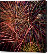 Bright Colorful Fireworks Canvas Print