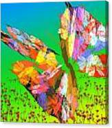 Bright Elusive Butterflys Of Love Canvas Print