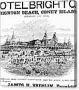 Brighton Beach Hotel, 1880 Canvas Print