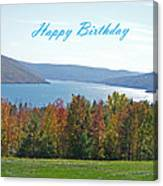 Bristol Harbor Birthday  Canvas Print