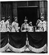 British Royal Family. From Center, L-r Canvas Print