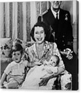 British Royal Family. From Left Future Canvas Print