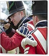 British Soldier Shooting Canvas Print