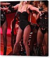 Britney Spears On Stage For The Circus Canvas Print