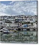 Brixham Harbour - Panorama Canvas Print