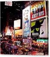 Broadway At Times Square Canvas Print