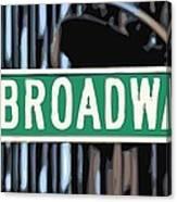 Broadway Sign Color 16 Canvas Print
