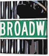 Broadway Sign Color 6 Canvas Print