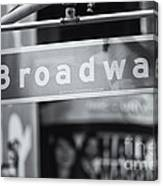 Broadway Street Sign II Canvas Print